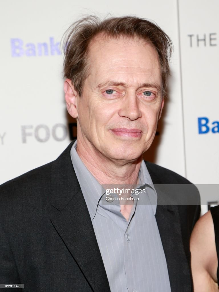 Actor <a gi-track='captionPersonalityLinkClicked' href=/galleries/search?phrase=Steve+Buscemi&family=editorial&specificpeople=207107 ng-click='$event.stopPropagation()'>Steve Buscemi</a> arrives at Bank of America and Food & Wine with The Cinema Society present a screening of 'A Place at the Table' at the Celeste Bartos Theater at the Museum of Modern Art on February 27, 2013 in New York City.
