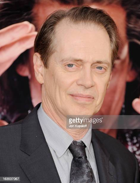 Actor Steve Buscemi arrives at the Los Angeles Premiere 'The Incredible Burt Wonderstone' at TCL Chinese Theatre on March 11 2013 in Hollywood...