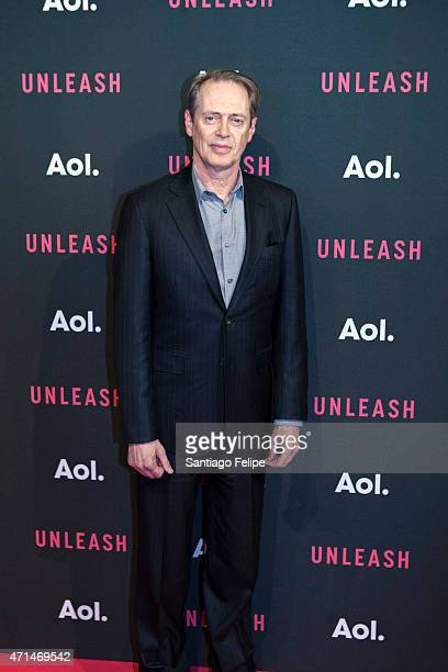 Actor Steve Buscemi at AOL Newfronts 2015 at 4 World Trade Center on April 28 2015 in New York City