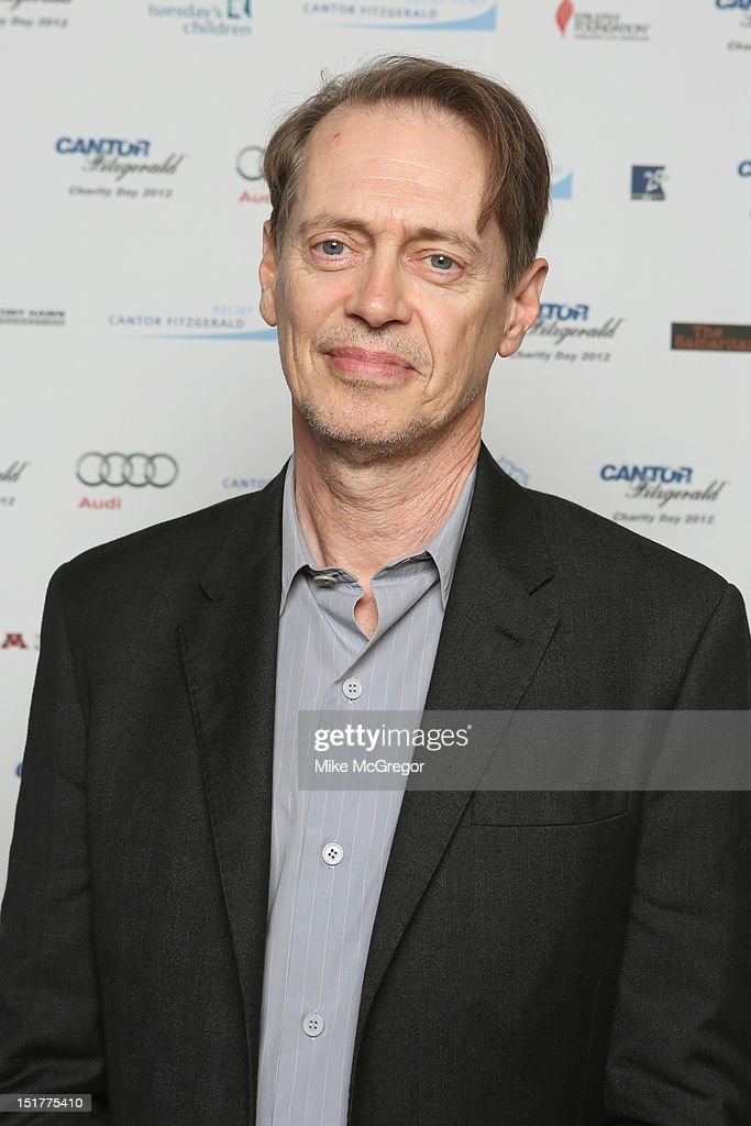 Actor <a gi-track='captionPersonalityLinkClicked' href=/galleries/search?phrase=Steve+Buscemi&family=editorial&specificpeople=207107 ng-click='$event.stopPropagation()'>Steve Buscemi</a> attends Cantor Fitzgerald & BGC Partners host annual charity day on 9/11 to benefit over 100 charities worldwide at Cantor Fitzgerald on September 11, 2012 in New York City.