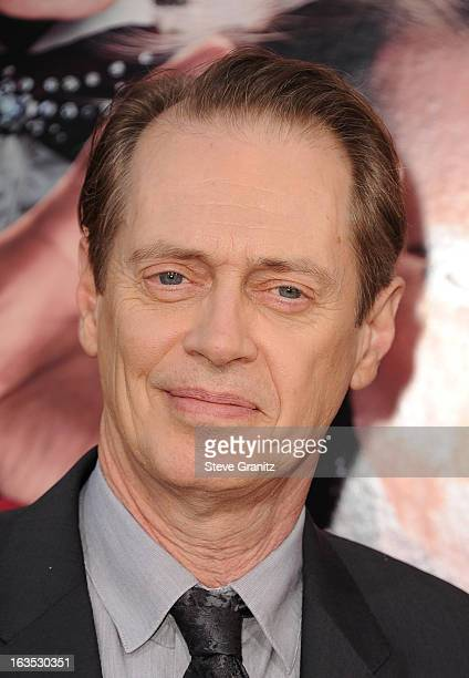 Actor Steve Buscemi attends 'The Incredible Burt Wonderstone' Los Angeles Premiere at TCL Chinese Theatre on March 11 2013 in Hollywood California