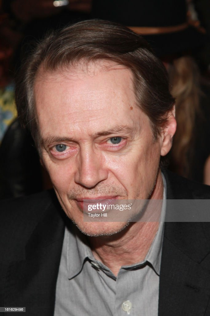 Actor <a gi-track='captionPersonalityLinkClicked' href=/galleries/search?phrase=Steve+Buscemi&family=editorial&specificpeople=207107 ng-click='$event.stopPropagation()'>Steve Buscemi</a> attends the Nanette Lepore Fall 2013 Mercedes-Benz Fashion Show at The Stage at Lincoln Center on February 13, 2013 in New York City.