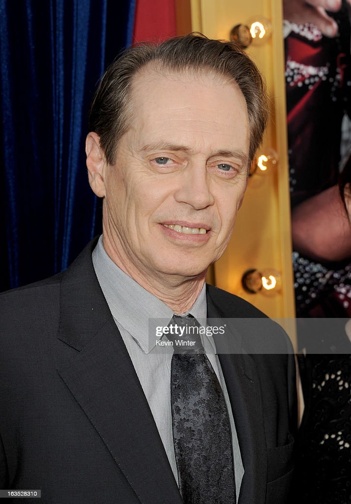 Actor <a gi-track='captionPersonalityLinkClicked' href=/galleries/search?phrase=Steve+Buscemi&family=editorial&specificpeople=207107 ng-click='$event.stopPropagation()'>Steve Buscemi</a> attends the premiere of Warner Bros. Pictures' 'The Incredible Burt Wonderstone' at TCL Chinese Theatre on March 11, 2013 in Hollywood, California.
