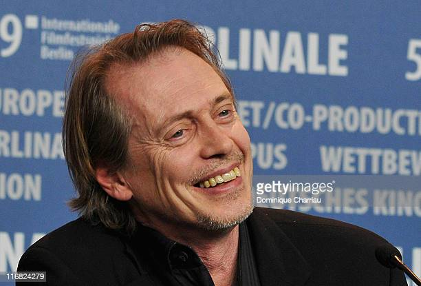 Actor Steve Buscemi attends the 'Rage' press conference during the 59th Berlin International Film Festival at the Grand Hyatt Hotel on February 8...
