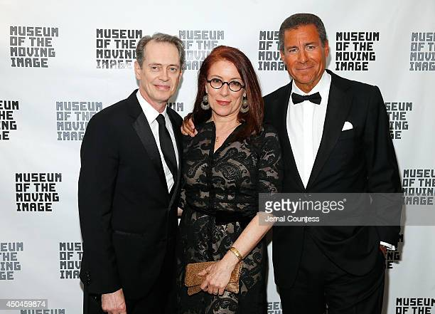 Actor Steve Buscemi Jo Andres and Richard Plepler attend the Museum Of The Moving Image Honors Richard Plepler Charlie Rose at Saint Regis Hotel on...
