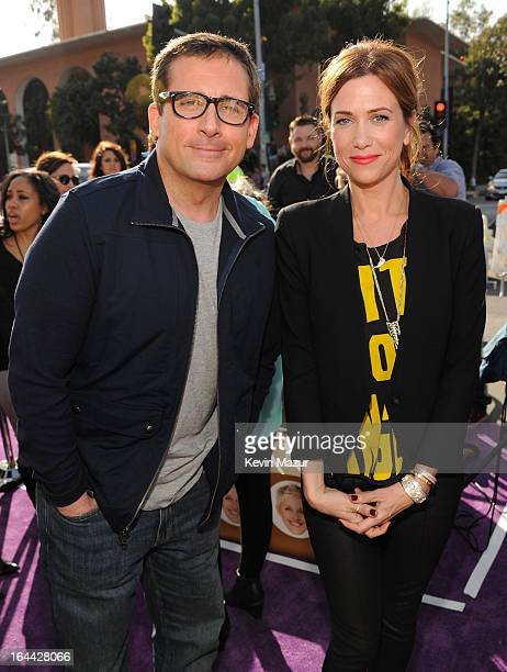 Actor Steve Carell and actress Kristin Wiig arrive at Nickelodeon's 26th Annual Kids' Choice Awards at USC Galen Center on March 23 2013 in Los...