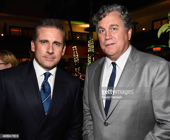 Actor Steve Carell and CoPresident and CoFounder of Sony Pictures Classics Tom Bernard attend the after party of Sony Pictures Classics' 'Foxcatcher'...