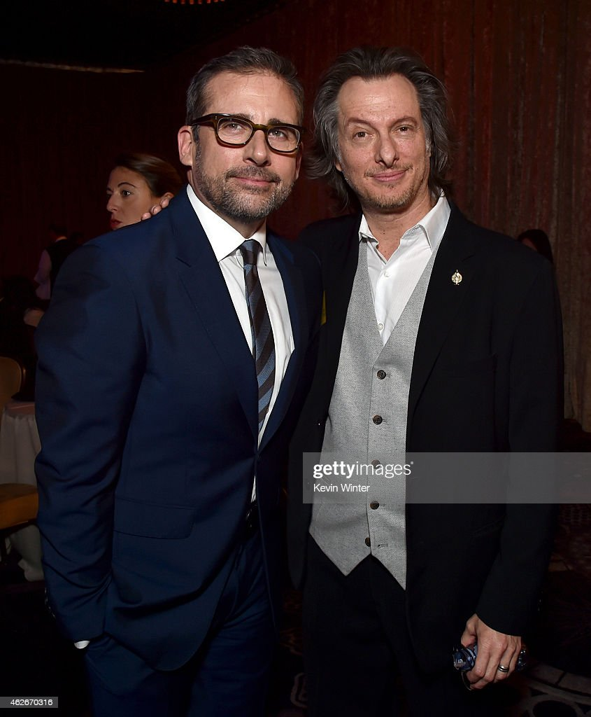 Actor Steve Carell and makeup artist Bill Corso attend the 87th Annual Academy Awards Nominee Luncheon at The Beverly Hilton Hotel on February 2 2015...