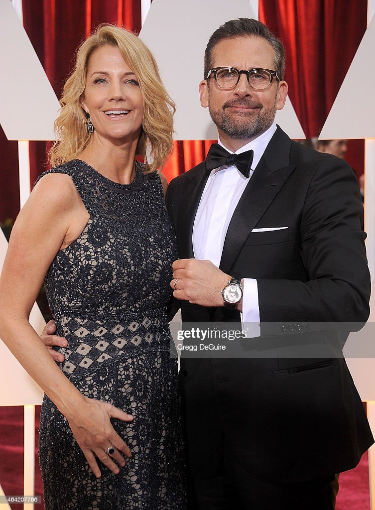 Actor <a gi-track='captionPersonalityLinkClicked' href=/galleries/search?phrase=Steve+Carell&family=editorial&specificpeople=595491 ng-click='$event.stopPropagation()'>Steve Carell</a> and <a gi-track='captionPersonalityLinkClicked' href=/galleries/search?phrase=Nancy+Carell&family=editorial&specificpeople=5891276 ng-click='$event.stopPropagation()'>Nancy Carell</a> arrive at the 87th Annual Academy Awards at Hollywood & Highland Center on February 22, 2015 in Hollywood, California.