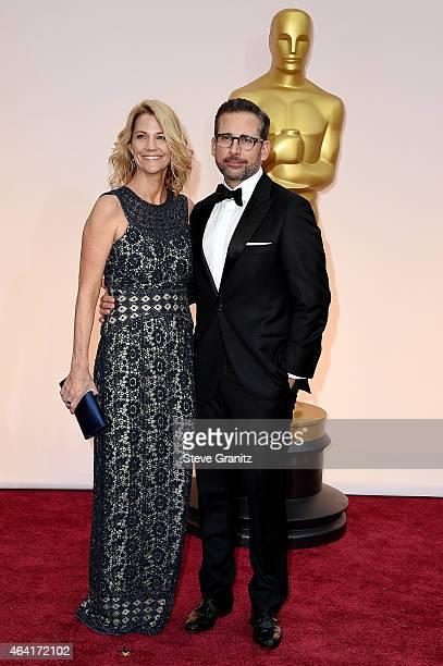 Actor Steve Carell and Nancy Carell attend the 87th Annual Academy Awards at Hollywood Highland Center on February 22 2015 in Hollywood California