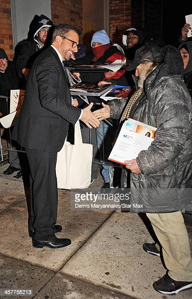 Actor Steve Carell and Radio Man are seen on December 18 2013 in New York City