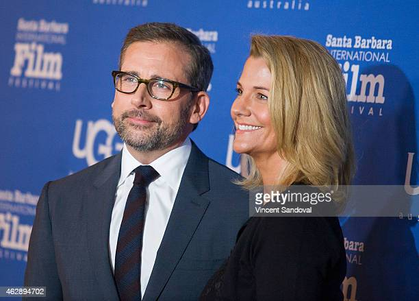 Actor Steve Carell and wife Nancy Carell attend the Outstanding Performer of The Year ceremony at the 30th Santa Barbara International Film Festival...
