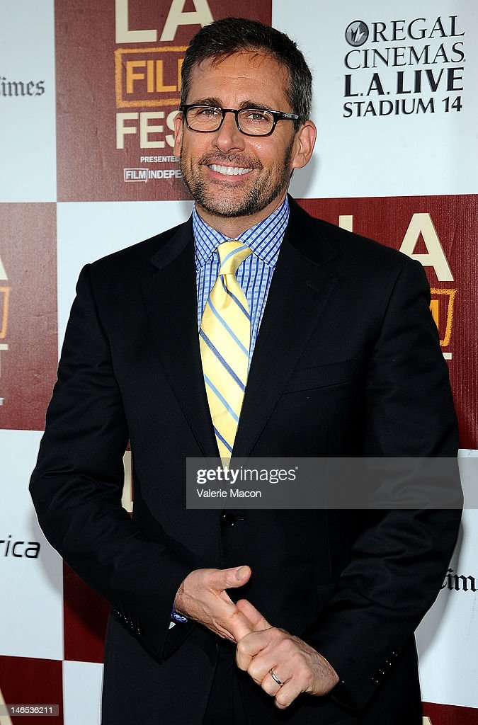 Actor <a gi-track='captionPersonalityLinkClicked' href=/galleries/search?phrase=Steve+Carell&family=editorial&specificpeople=595491 ng-click='$event.stopPropagation()'>Steve Carell</a> arrives at Film Independent's 2012 Los Angeles Film Festival premiere of Focus Features' 'Seeking A Friend For The End Of The World' at Regal Cinemas L.A. Live on June 18, 2012 in Los Angeles, California.