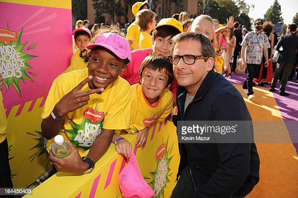 Actor Steve Carell arrives at Nickelodeon's 26th Annual Kids' Choice Awards at USC Galen Center on March 23 2013 in Los Angeles California