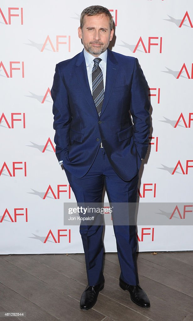 Actor <a gi-track='captionPersonalityLinkClicked' href=/galleries/search?phrase=Steve+Carell&family=editorial&specificpeople=595491 ng-click='$event.stopPropagation()'>Steve Carell</a> arrives at the 15th Annual AFI Awards at Four Seasons Hotel Los Angeles at Beverly Hills on January 9, 2015 in Beverly Hills, California.