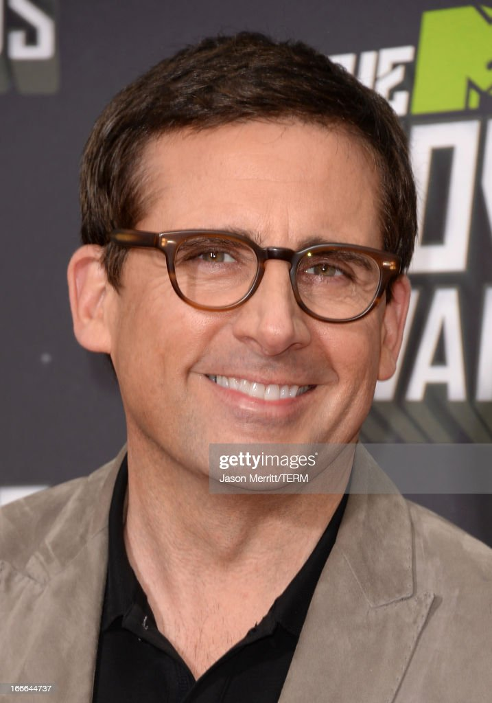 Actor Steve Carell arrives at the 2013 MTV Movie Awards at Sony Pictures Studios on April 14, 2013 in Culver City, California.