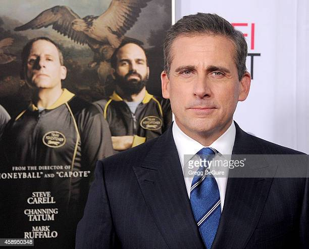 Actor Steve Carell arrives at the AFI FEST 2014 Presented By Audi Closing Night Gala Premiere of 'Foxcatcher' at Dolby Theatre on November 13 2014 in...