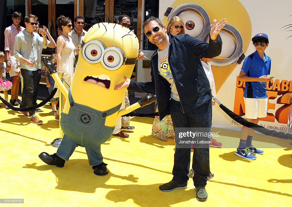 Actor <a gi-track='captionPersonalityLinkClicked' href=/galleries/search?phrase=Steve+Carell&family=editorial&specificpeople=595491 ng-click='$event.stopPropagation()'>Steve Carell</a> arrives at the 'Despicable Me 2' premiere at Universal CityWalk on June 22, 2013 in Universal City, California.