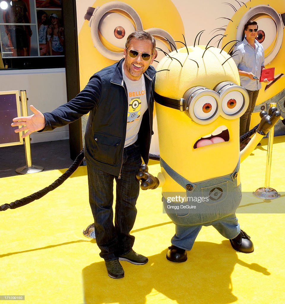 Actor <a gi-track='captionPersonalityLinkClicked' href=/galleries/search?phrase=Steve+Carell&family=editorial&specificpeople=595491 ng-click='$event.stopPropagation()'>Steve Carell</a> arrives at the Los Angeles premiere of 'Despicable Me 2' at Universal CityWalk on June 22, 2013 in Universal City, California.