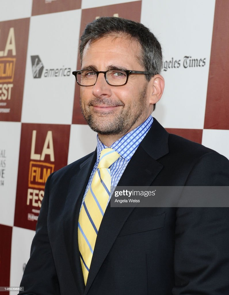 Actor <a gi-track='captionPersonalityLinkClicked' href=/galleries/search?phrase=Steve+Carell&family=editorial&specificpeople=595491 ng-click='$event.stopPropagation()'>Steve Carell</a> arrives at the premiere of 'Seeking a Friend for the End of the World' at the 2012 Los Angeles Film Festival held at Regal Cinemas L.A. Live on June 18, 2012 in Los Angeles, California.