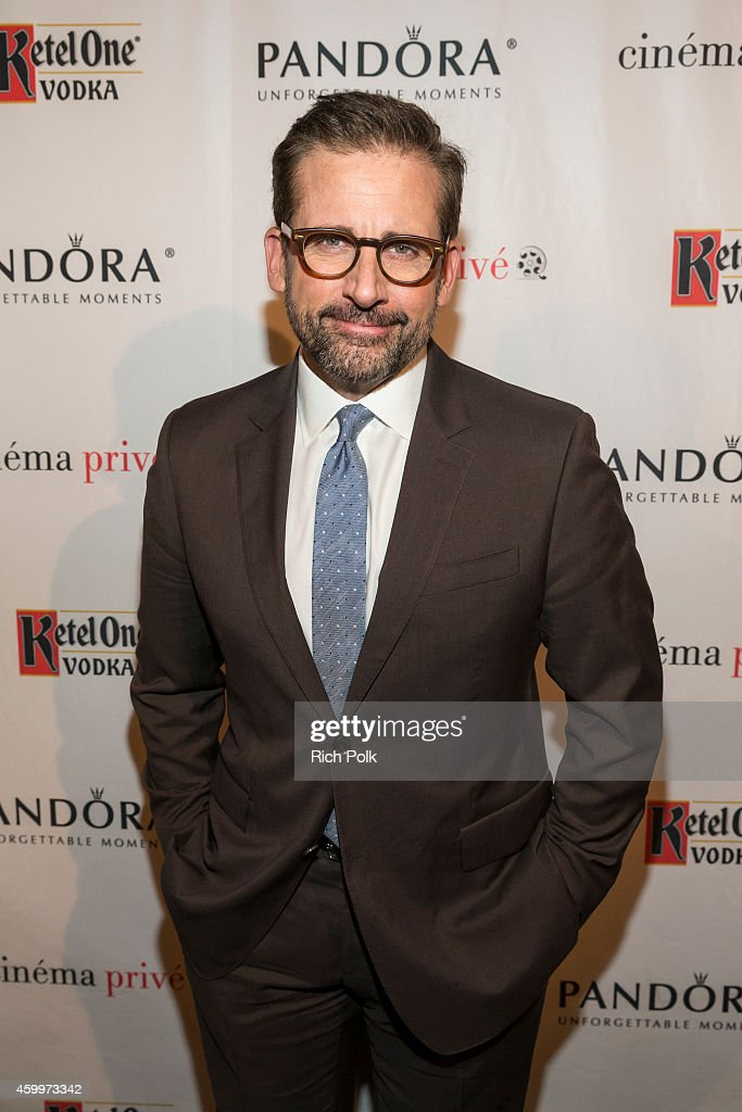 Actor <a gi-track='captionPersonalityLinkClicked' href=/galleries/search?phrase=Steve+Carell&family=editorial&specificpeople=595491 ng-click='$event.stopPropagation()'>Steve Carell</a> attends cinema prive and PANDORA Jewelry host a special screening of 'Foxcatcher' featuring Ketel One vodka cocktails on December 4, 2014 in West Hollywood, California.