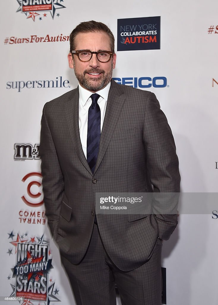 Actor <a gi-track='captionPersonalityLinkClicked' href=/galleries/search?phrase=Steve+Carell&family=editorial&specificpeople=595491 ng-click='$event.stopPropagation()'>Steve Carell</a> attends Comedy Central Night Of Too Many Stars at Beacon Theatre on February 28, 2015 in New York City.