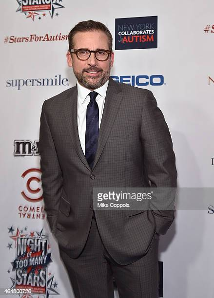 Actor Steve Carell attends Comedy Central Night Of Too Many Stars at Beacon Theatre on February 28 2015 in New York City