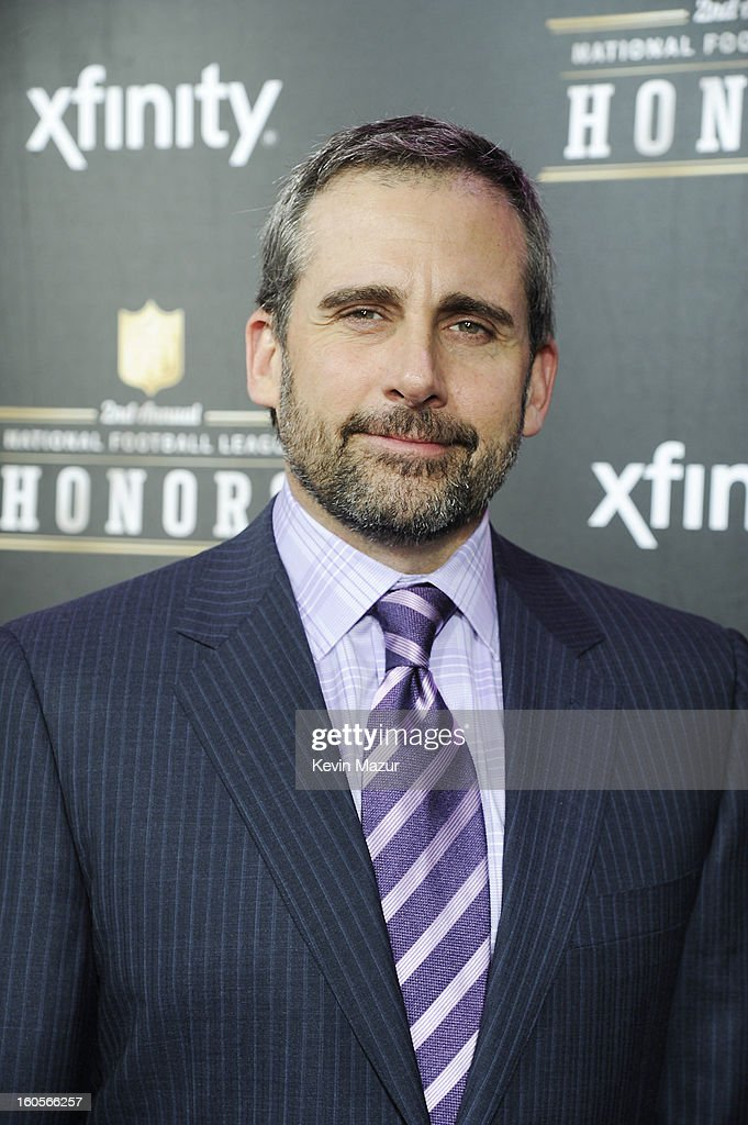 Actor <a gi-track='captionPersonalityLinkClicked' href=/galleries/search?phrase=Steve+Carell&family=editorial&specificpeople=595491 ng-click='$event.stopPropagation()'>Steve Carell</a> attends the 2nd Annual NFL Honors at the Mahalia Jackson Theater on February 2, 2013 in New Orleans, Louisiana.