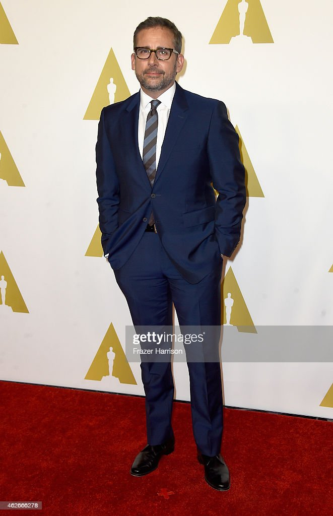 Actor <a gi-track='captionPersonalityLinkClicked' href=/galleries/search?phrase=Steve+Carell&family=editorial&specificpeople=595491 ng-click='$event.stopPropagation()'>Steve Carell</a> attends the 87th Annual Academy Awards Nominee Luncheon at The Beverly Hilton Hotel on February 2, 2015 in Beverly Hills, California.