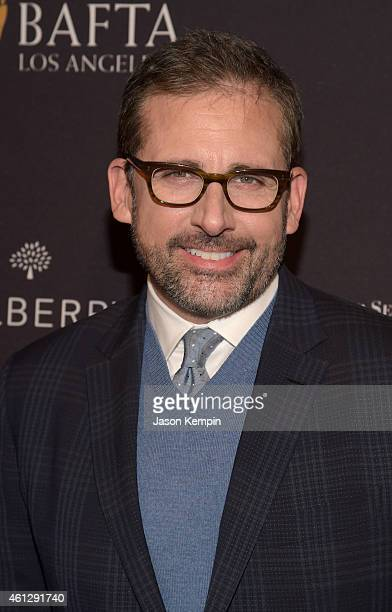Actor Steve Carell attends the BAFTA Los Angeles Tea Party at The Four Seasons Hotel Los Angeles At Beverly Hills on January 10 2015 in Los Angeles...