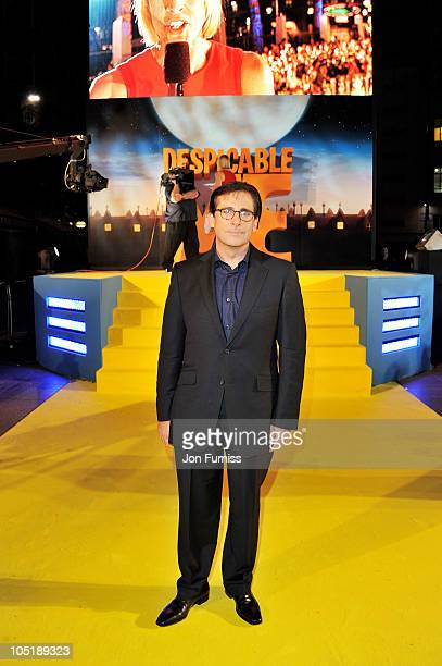 Actor Steve Carell attends the 'Despicable Me' European premiere at Empire Leicester Square on October 11 2010 in London England
