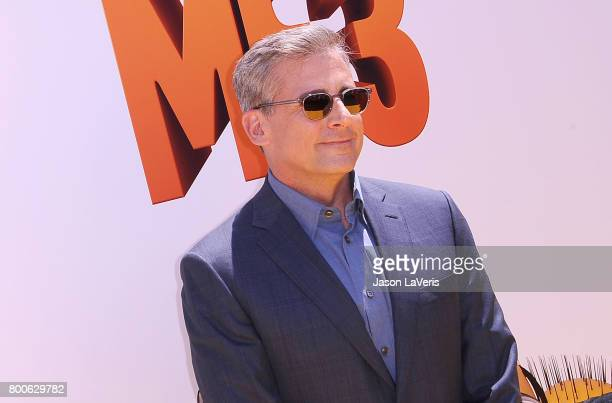 Actor Steve Carell attends the premiere of 'Despicable Me 3' at The Shrine Auditorium on June 24 2017 in Los Angeles California