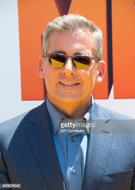 Actor Steve Carell attends the premiere of 'Despicable Me 3' on June 24 2017 in Los Angeles California / AFP PHOTO / VALERIE MACON