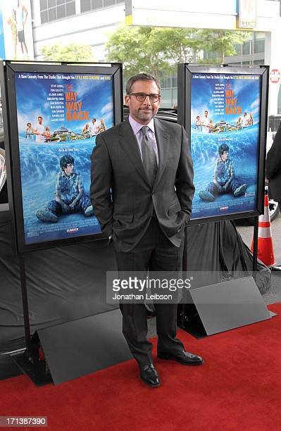 Actor Steve Carell attends the premiere of Fox Searchlight Pictures' 'The Way Way Back' sponsored by DIRECTV at Regal Cinemas LA Live on June 23 2013...