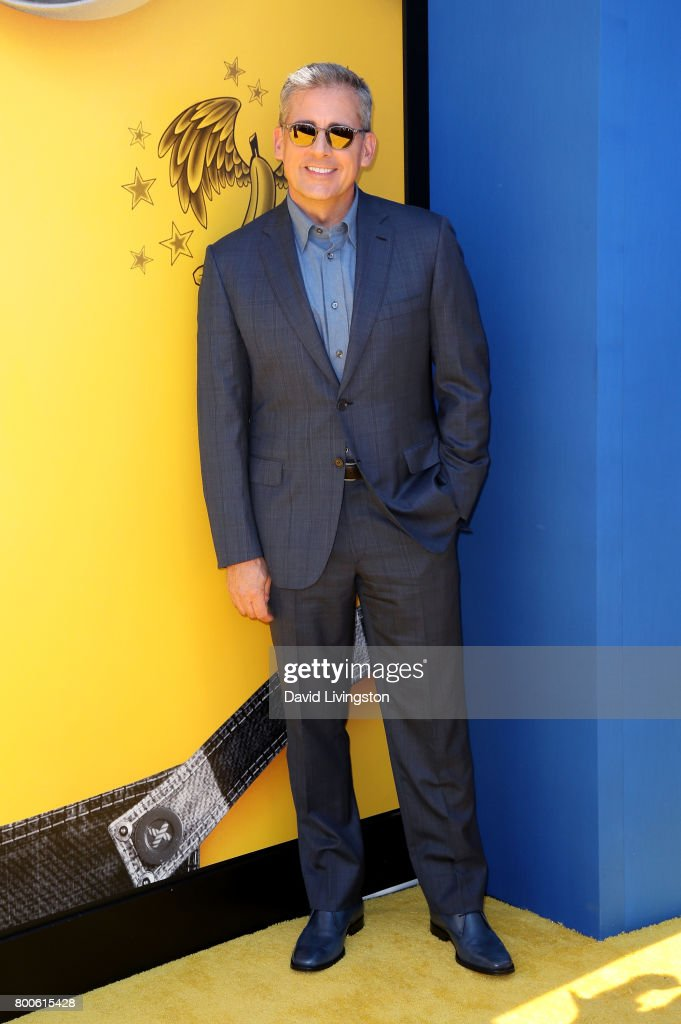 Actor Steve Carell attends the premiere of Universal Pictures and Illumination Entertainment's 'Despicable Me 3' at The Shrine Auditorium on June 24, 2017 in Los Angeles, California.