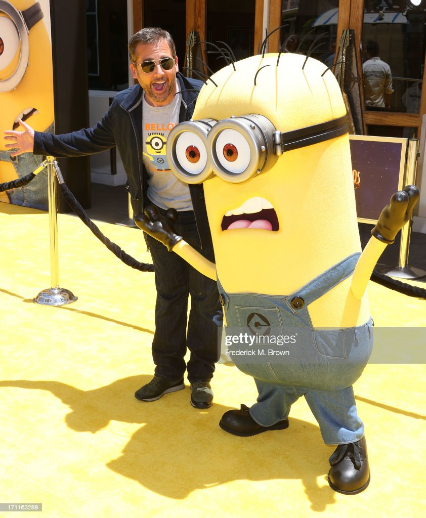 Actor Steve Carell attends the premiere of Universal Pictures' 'Despicable Me 2' at the Gibson Amphitheatre on June 22, 2013 in Universal City, California.