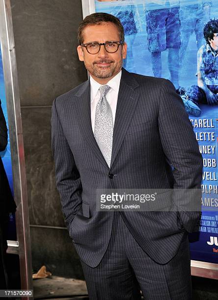 Actor Steve Carell attends 'The Way Way Back ' New York Premiere at AMC Loews Lincoln Square on June 26 2013 in New York City