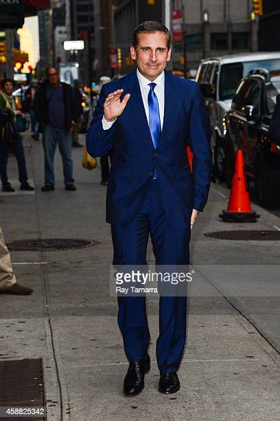 Actor Steve Carell enters the 'Late Show With David Letterman' taping at the Ed Sullivan Theater on November 11 2014 in New York City