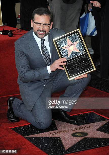 Actor Steve Carell Honored With Star On The Hollywood Walk Of Fame on January 6 2016 in Hollywood California