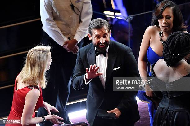 Actor Steve Carell in the audience during the 88th Annual Academy Awards at the Dolby Theatre on February 28 2016 in Hollywood California