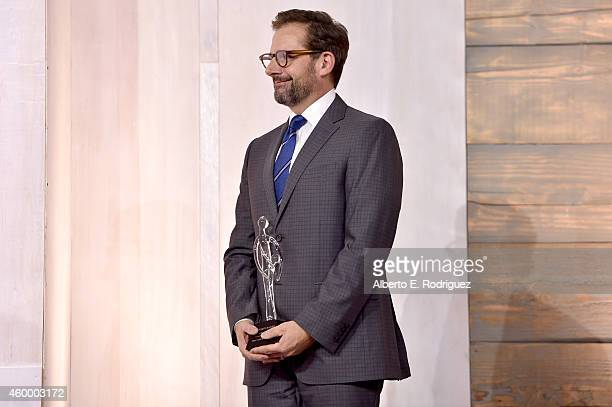 Actor Steve Carell speaks onstage at the March of Dimes' Celebration of Babies A Hollywood Luncheon at the Beverly Wilshire Hotel on December 5 2014...