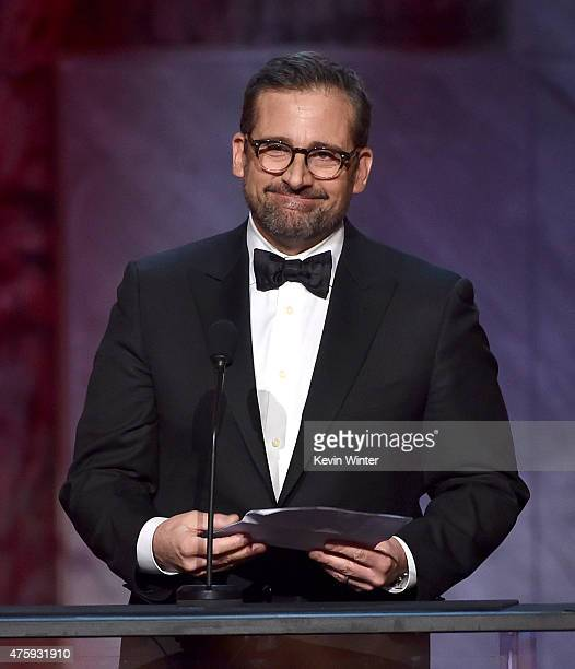 Actor Steve Carell speaks onstage during the 2015 AFI Life Achievement Award Gala Tribute Honoring Steve Martin at the Dolby Theatre on June 4 2015...