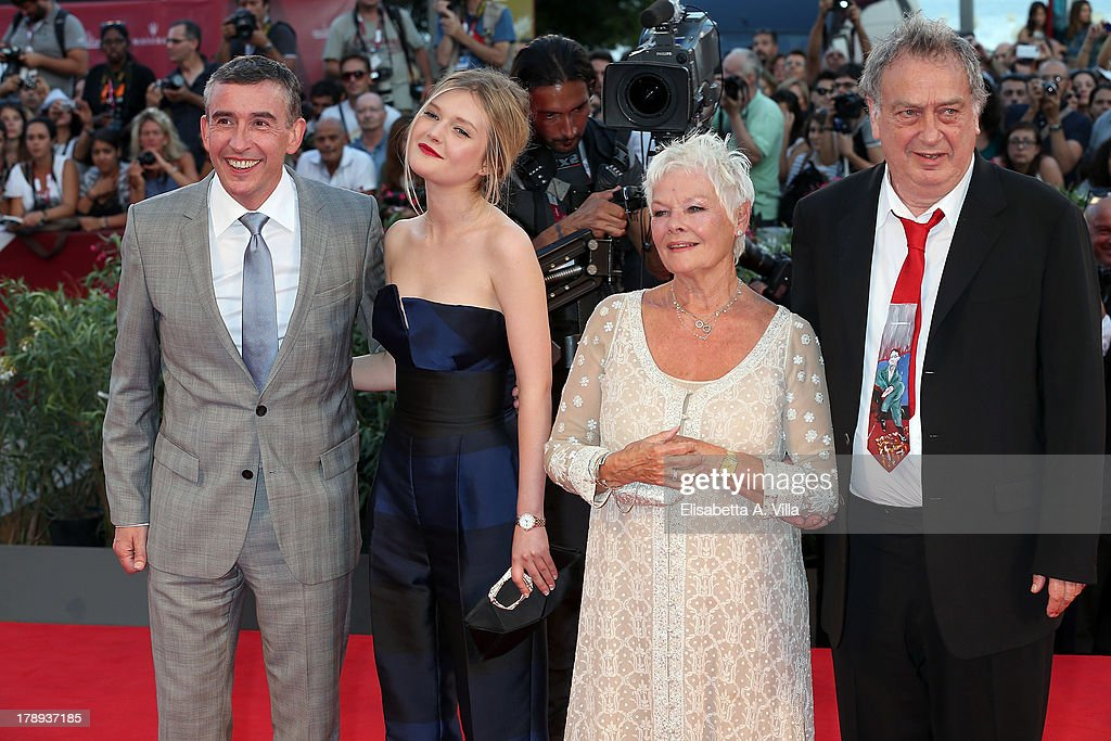 Actor Steve Coogan actress Sophie Kennedy Clark actress Judi Dench and director Stephen Frears attend the 'Philomenia' Premiere during The 70th...