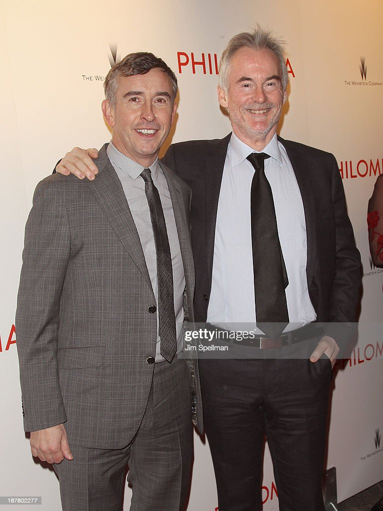 Actor Steve Coogan and author Martin Sixsmith attend the premiere of 'Philomena' hosted by The Weinstein Company at Paris Theater on November 12, 2013 in New York City.