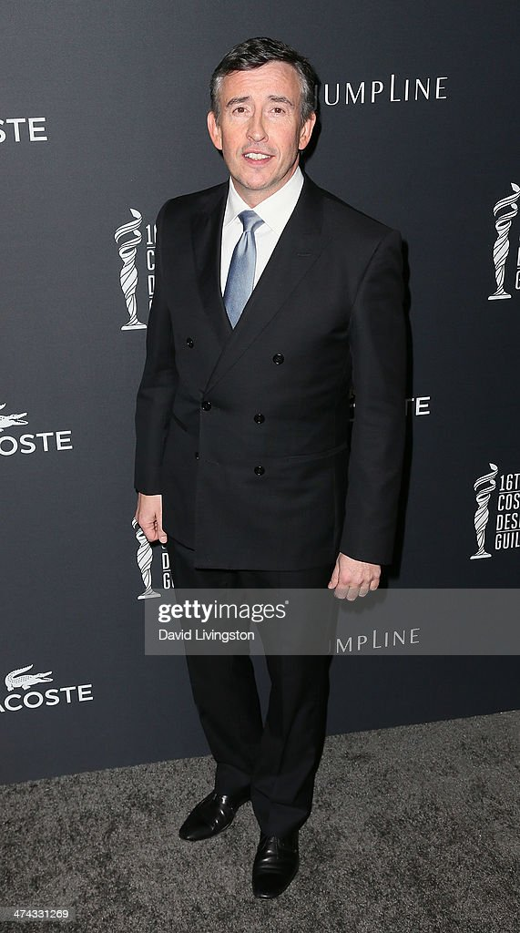 Actor Steve Coogan attends the 16th Costume Designers Guild Awards with presenting sponsor Lacoste at The Beverly Hilton Hotel on February 22, 2014 in Beverly Hills, California.