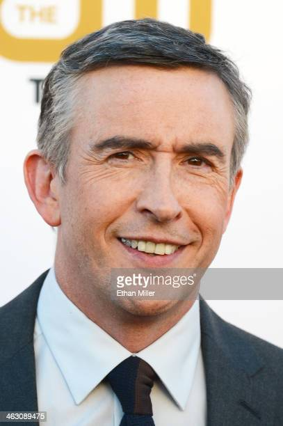 Actor Steve Coogan attends the 19th Annual Critics' Choice Movie Awards at Barker Hangar on January 16 2014 in Santa Monica California