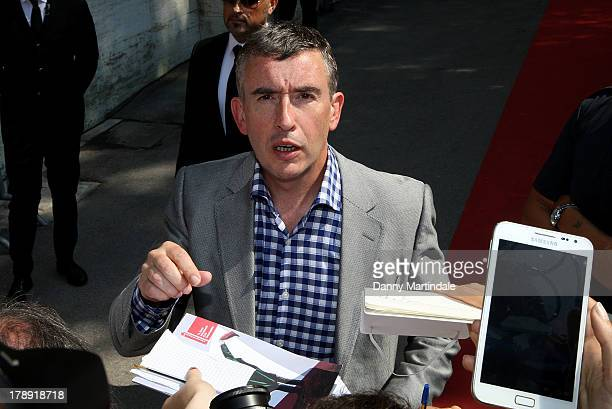 Actor Steve Coogan signs fpr fans on day 4 of the 70th Venice International Film Festival on August 31 2013 in Venice Italy