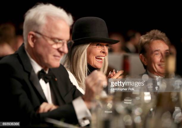 Actor Steve Martin 45th AFI Life Achievement Award Recipient Diane Keaton and Comedian Martin Short during American Film Institute's 45th Life...