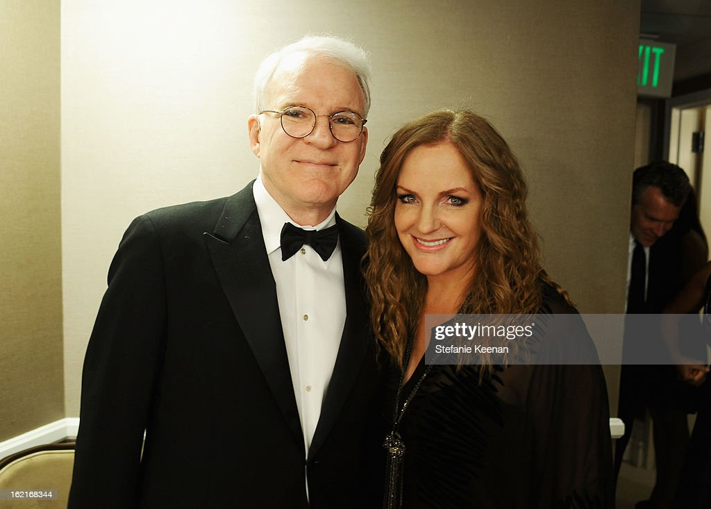 Actor Steve Martin (L) and Executive Producer Costume Designers Guild Awards, JL Pomeroy attend the 15th Annual Costume Designers Guild Awards with presenting sponsor Lacoste at The Beverly Hilton Hotel on February 19, 2013 in Beverly Hills, California.