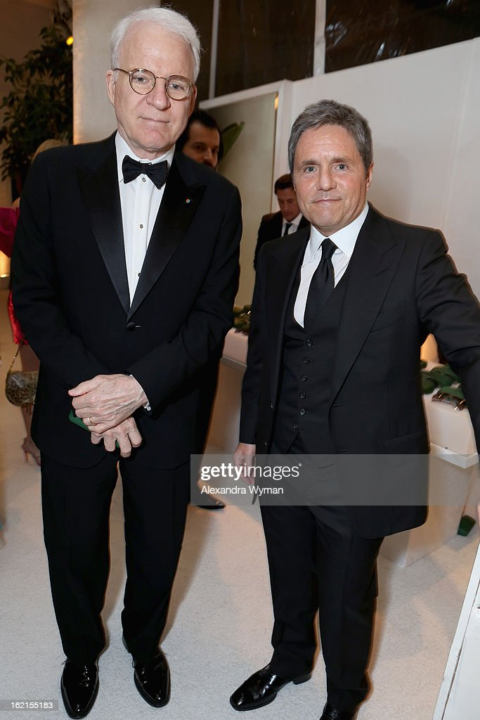 Actor Steve Martin and Paramount Pictures Chairman/CEO Brad Grey attend the 15th Annual Costume Designers Guild Awards with presenting sponsor Lacoste at The Beverly Hilton Hotel on February 19, 2013 in Beverly Hills, California.